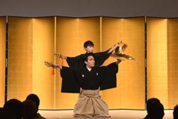 藤間勘祖さん振付による義太夫「三番叟」の演技披露