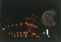 花火と屋台